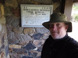 Antiga placa do IBDF (Instituto Brasileiro de Desenvolvimento Florestal) no Abrigo Rebouças. Foto: Alexandre Dupont.