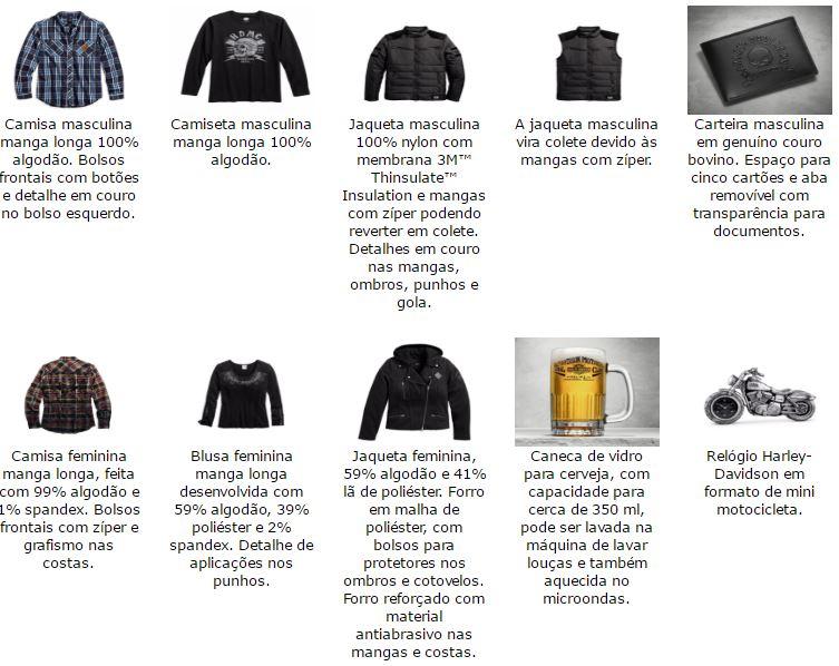 Veja detalhes da seleção da Harley-Davidson nas fotos abaixo.