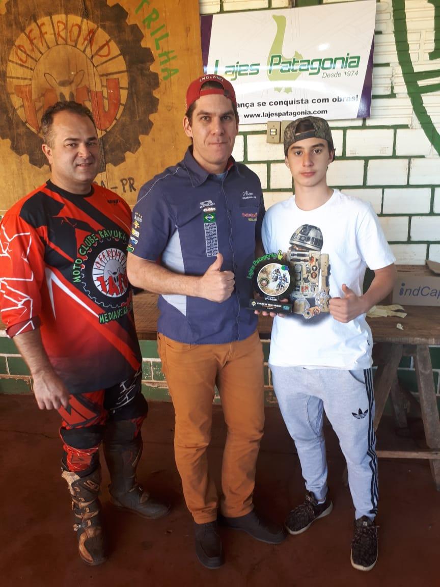 Pai e filho na penúltima etapa do Campeonato Paranaense de Enduro de Regularidade 2018