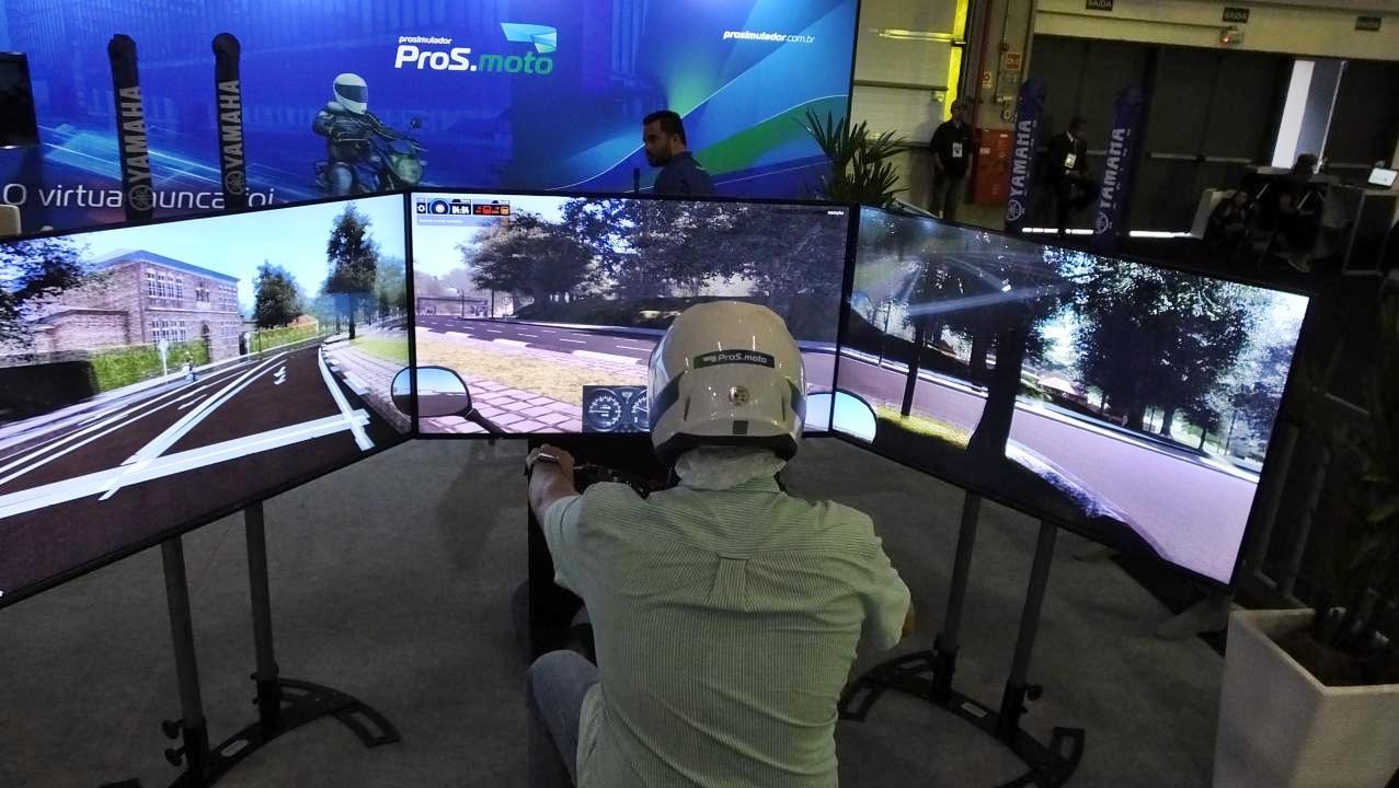 Simulador com alto grau de realismo é lançado no Salão Duas Rodas 2019